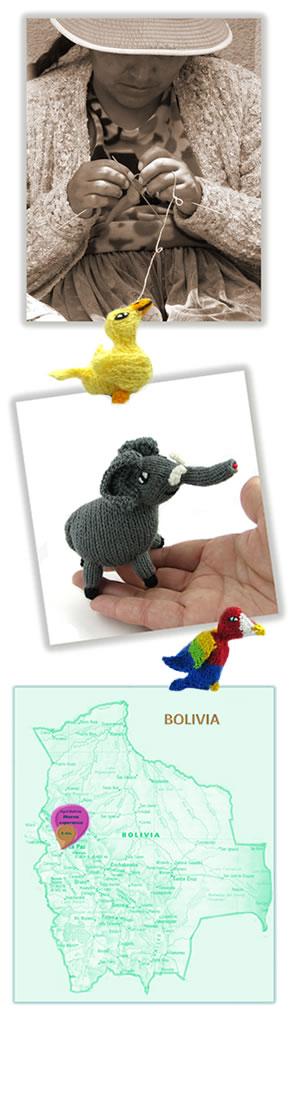 Títeres de dedo y animales tejidos a mano de comercio justo